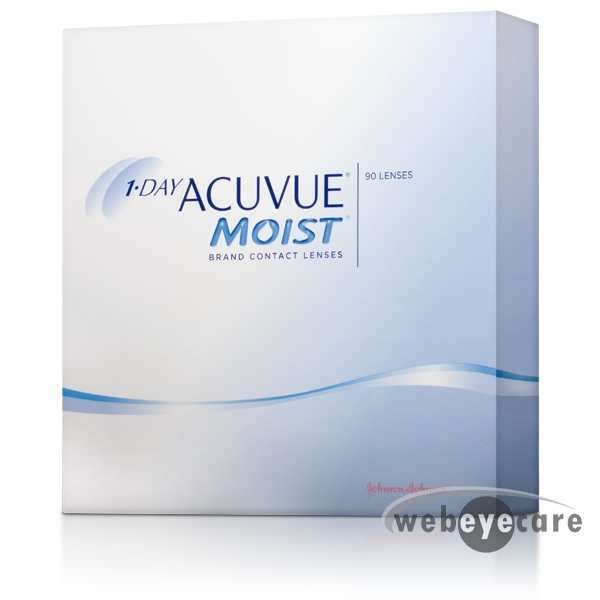 Acuvue 1-day 90 pack, Acuvue moist, Acuvue Moist Contact lenses