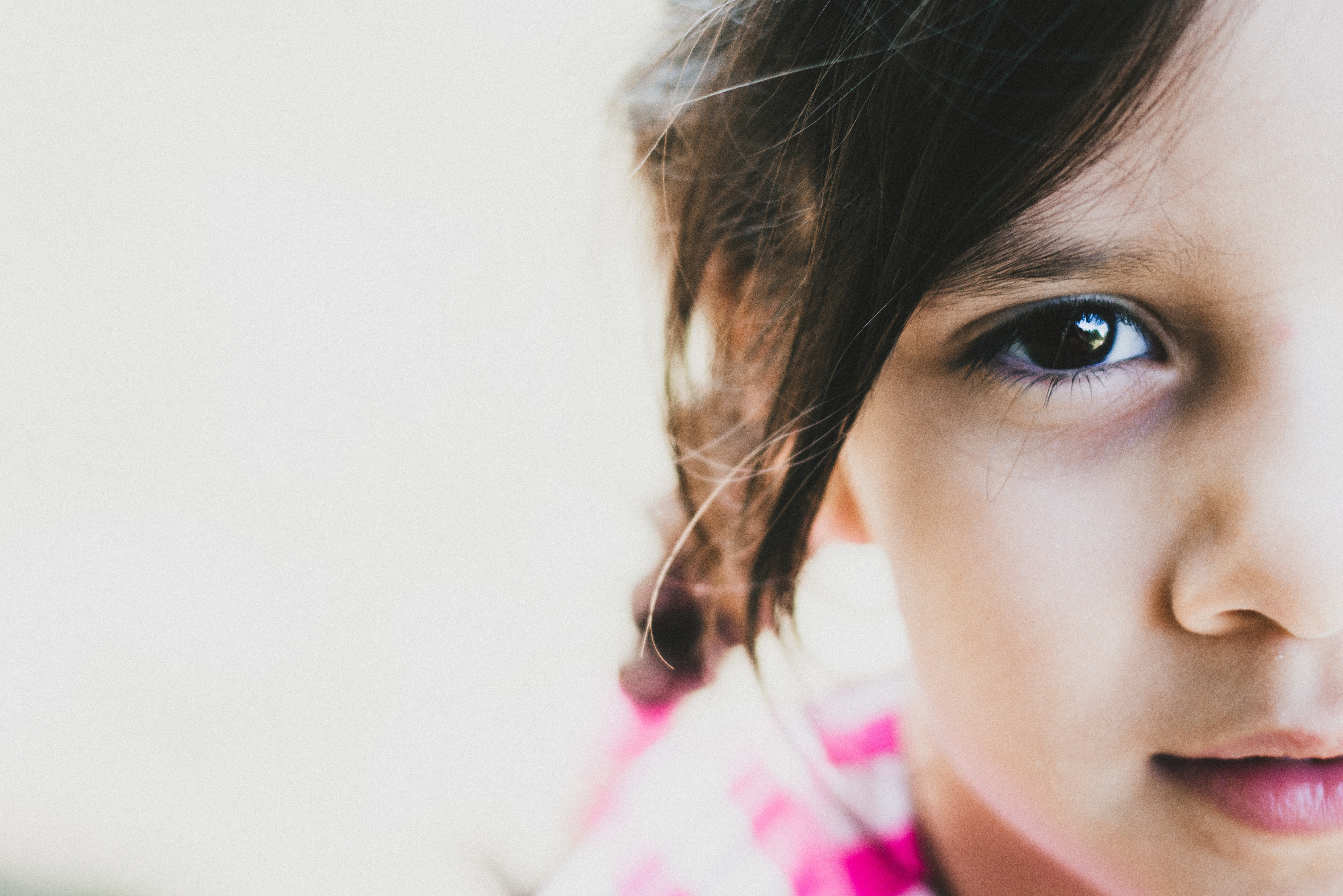 Image of half of little girl's face