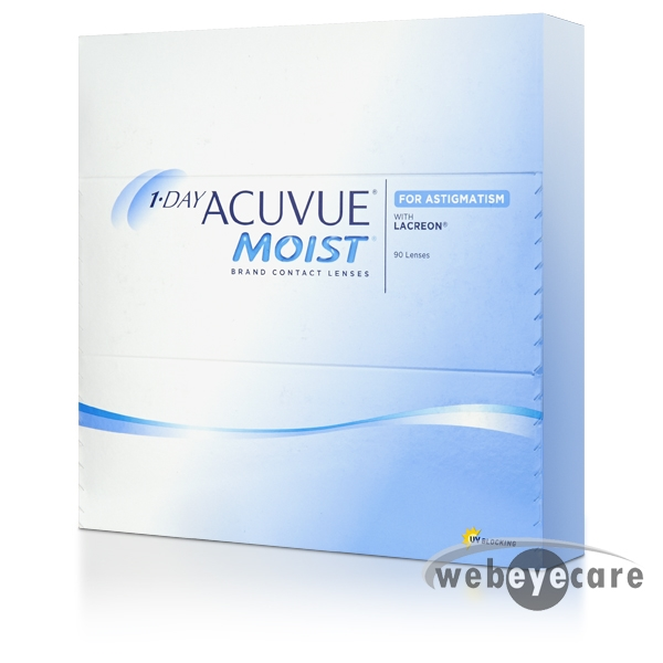 Acuvue 1-day, Acuvue moist for astigmatism, Acuvue Moist For Astigmatism Contact lenses